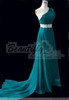 Elegant Beads Lace Chiffon Evening Gown Prom Dress