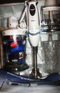 BRAUN MULTIQUICK PROFESSIONAL HAND BLENDER W/TWO CHOPPERS ICE CRUSHER