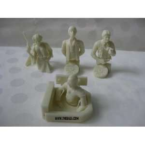 Star Wars Convention Exclusive Bust Ups Set of 4 Glow in