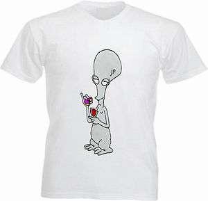 Roger the Alien T shirt Cartoon American Dad inspired Tee