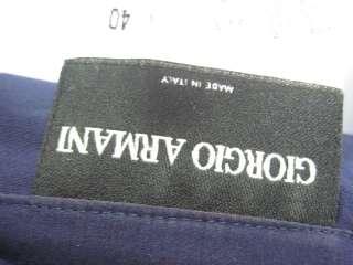 GIORGIO ARMANI Navy Silk Shirt Top Pants Slacks Set 40