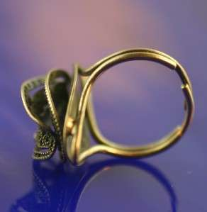 Vintage Beau Sterling Silver 925 filigree adj ring
