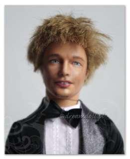 BRAD PITT    OOAK portrait doll art, suave Ken repaint, custom