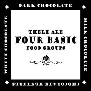 Chocolate Four Food Groups Funny Vinyl Wall Decals Stickers Lettering