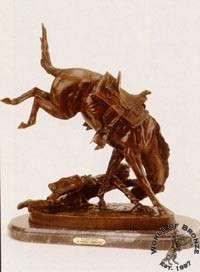 WICKED PONY  by Frederic Remington Bronze Handcast Sculpture w