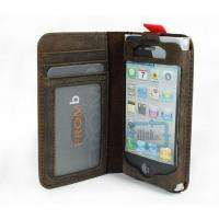 Luxury Fashion BookBook Leather Wallet FLIP Case Cover for iPhone 4S 4