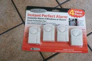 HANDY TRENDS INSTANT PERFECT ALARM WINDOW/DOOR 4PC NEW