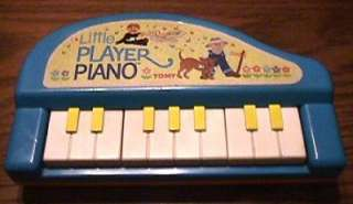 Vintage 1985 TOMY LITTLE PLAYER PRESCHOOL TOY PIANO