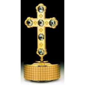 Cross 24k Gold Plated Swarovski Crystal Music Box