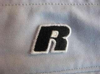 MENS Russell Athletic Quality Gray Green Piping Baseball Softball