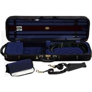 J. Winter Super Light Series Violin Case Black with Dark
