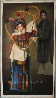 Art Original Oil Painting On Canvas Chinese Beijing opern Series