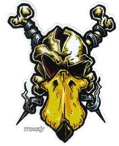 no fear ghost skull logo black decal truck window sticker