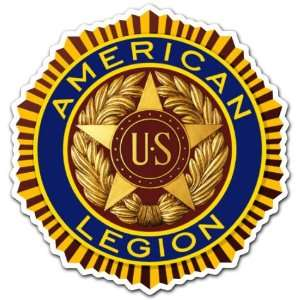 American Legion US Armed Forces Army Seal Sticker 4x4