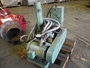 INDUSTRIAL VACUUM PUMP W/ GAST 1550V14C Vacuum Pump & 3/4 BALDOR MOTOR