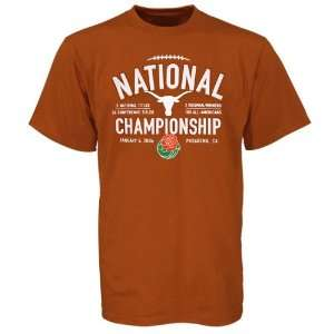 Texas Longhorns Burnt Orange 2006 Rose Bowl T shirt
