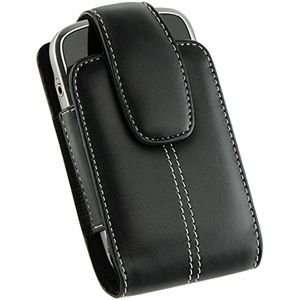 o Black Lambskin Leather Vertical Pouch for Palm Treo