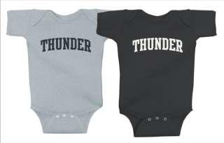 Oklahoma City Thunder Onesie, Creeper, Black, Gray
