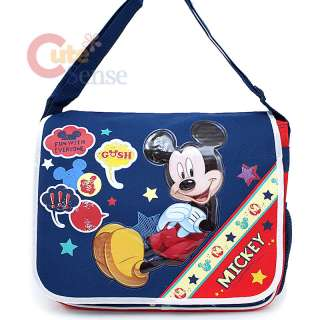 Mickey Mouse School Messenger Bag Diaper Bag Say Cheese
