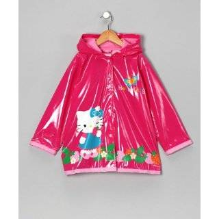 Sanrio Hello Kitty Girls Pink Rain Coat   Sizes X small 4/5 and Small