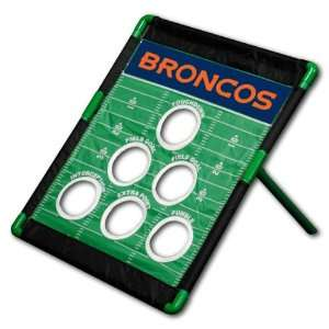Denver Broncos NFL Football Field Bean Bag Toss Game