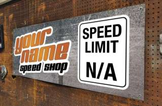 Speed Shop Custom Racing Banner Ford Chevy Mopar