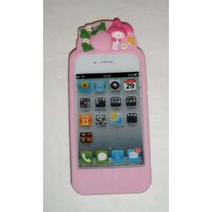 My Melody Baby Pink Protective Silicone Gel Case Cover Embossed Pop