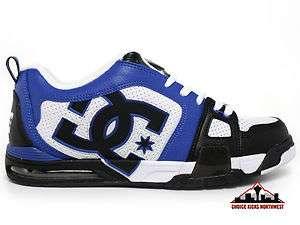 White/Blue/Black Mens Low Top Skate Shoes/Size 10,11,12,13