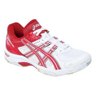 Womens ASICS GEL Rocket 5 Shoe White/Red