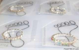 Lots 60Pcs 1Row Color Crystal Rhinestone Toe Rings