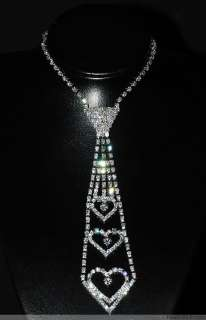 Lots 12Strands Stunning Crystal Rhinestone Lady Necklace Tie S