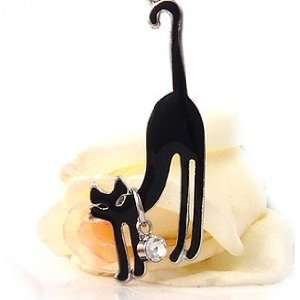 Black Cat Cell Phone Charm c784