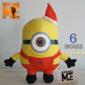 Despicable Me Minion Christmas Stewart Plush Toy 6 Soft Stuffed