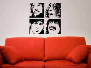 THE BEATLES VINYL WALL DECAL STICKER GOOD FOR ANY ROOM