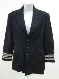 RALPH LAUREN Navy Blue Red White Stripe Blazer Sz 6