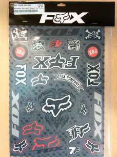 FOX RACING FOXHEAD MX RACEDAY STICKER PACK/SHEET/KIT