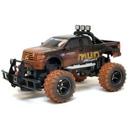 New Bright Black 115 Scale Electric Mud Slinger Ford F 150 RC Truck