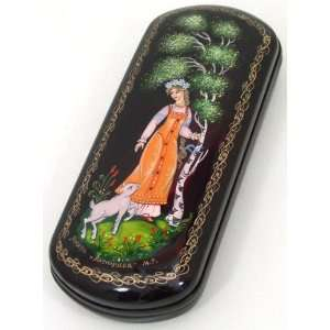 Lacquer Box   Eyeglass Case #0153 Russian fairy tale