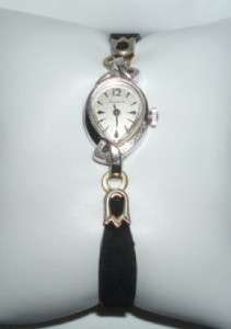 Vintage Bulova Ladies10K Rolled White Gold Plate Watch