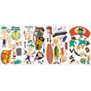 Room Mates Licensed Designs Phineas and Ferb Peel and Stick Wall Decal