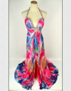 JOVANI Silk Pink / Multi $500 Prom Evening Party Gown   BRAND NEW