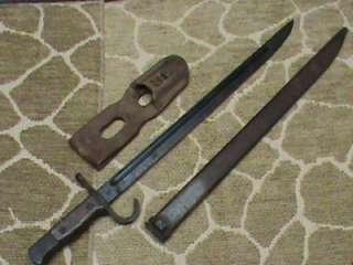 Japanese Arisaka Type 30 Bayonet & Scabbard , Frog Jinsen Arsenal