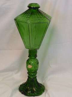 DECORATIVE WINE BOTTLE LAMP FOREST GREEN GLASS MILFORD