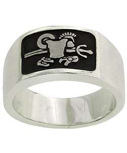 Sterling Silver Armor of God Band Ring