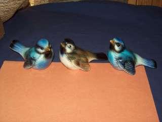 Goebel Blue Bird Brown Figurines CV72 CV73 Lot of 3