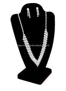 Black Combo Necklace Pendant Earring Display Stands