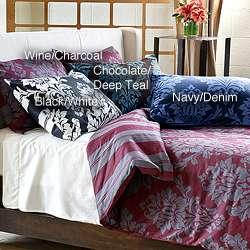 Havana Reversible 3 piece Full/ Queen size Duvet Cover Set