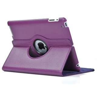 Purple Smart Cover Magnetic PU Leather Case Stand+Pen&Film