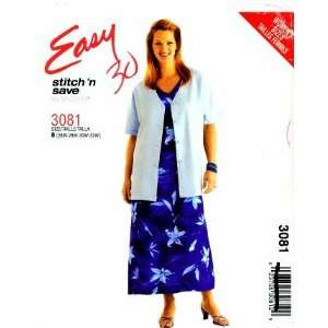 McCalls 3081 Sewing Pattern Womens Jacket Dress Plus