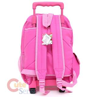 Hello Kitty Large School Roller Backpack Lunch Bag Set Pink Bows